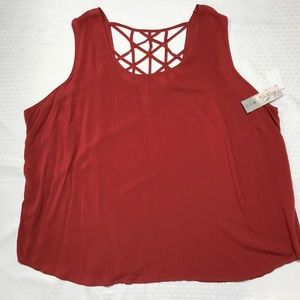 Tops - Como Vintage 3x Red Top